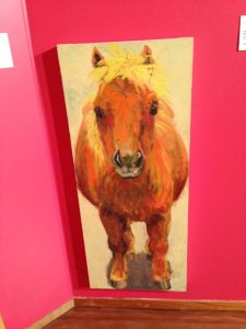 How can you resist this gorgeous horse painting by Lucy Culliton?