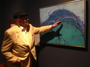 John Olsen at the Mosman Art Gallery, March 2015