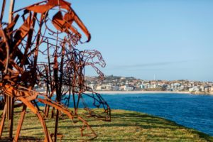 The Last Charge, by Harrie Fasher. Sculpture by the Sea, 2017. Image courtesy of Sculpture by the Sea.