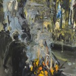 Fire Figure 1, 2001, oil on canvas, by Euan Macleod