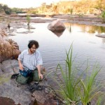 Stephen Vitiello, recording The Sound of Red Earth in the Kimberley