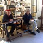 Charles Blackman & Judy Cassab drawing a model Marina Finlay.